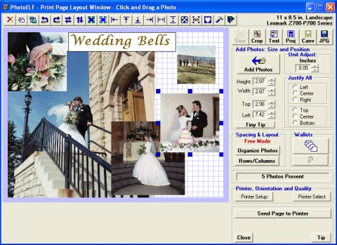 photo printing layout